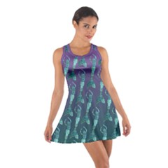 Mermaid Shoal purple and teal Cotton Racerback Dress by ChihuahuaShower