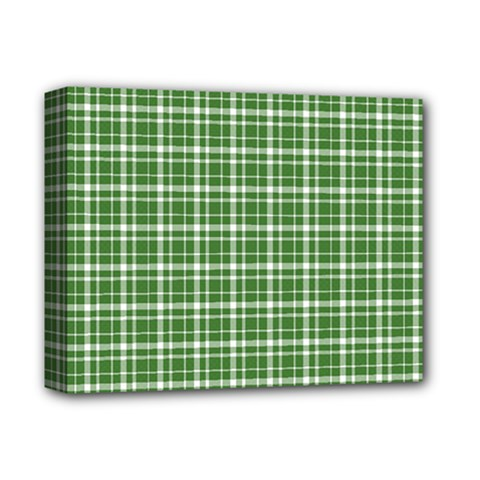 St  Patricks Day Plaid Pattern Deluxe Canvas 14  X 11  by Valentinaart