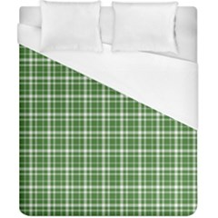St  Patricks Day Plaid Pattern Duvet Cover (california King Size) by Valentinaart