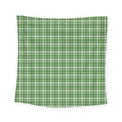 St  Patricks Day Plaid Pattern Square Tapestry (small) by Valentinaart