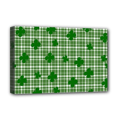 St  Patrick s Day Pattern Deluxe Canvas 18  X 12   by Valentinaart