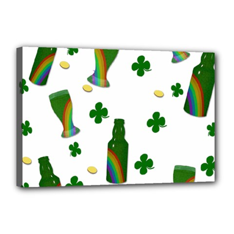 St  Patricks Day  Canvas 18  X 12  by Valentinaart
