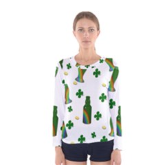 St  Patricks Day  Women s Long Sleeve Tee by Valentinaart