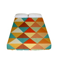 Golden Dots And Triangles Patern Fitted Sheet (full/ Double Size) by TastefulDesigns