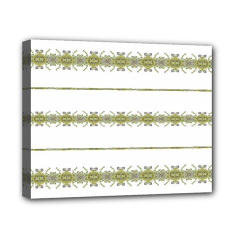 Ethnic Floral Stripes Canvas 10  X 8  by dflcprints