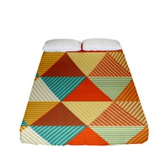 Triangles Pattern  Fitted Sheet (full/ Double Size) by TastefulDesigns
