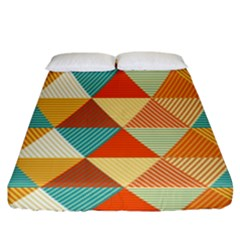 Triangles Pattern  Fitted Sheet (king Size) by TastefulDesigns