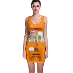 1507 Orange Bodycon Dress by PattyVilleDesigns