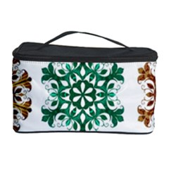 A Set Of 9 Nine Snowflakes On White Cosmetic Storage Case by Amaryn4rt