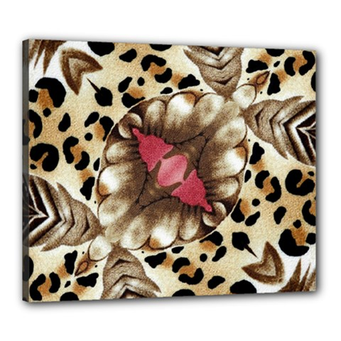 Animal Tissue And Flowers Canvas 24  X 20  by Amaryn4rt