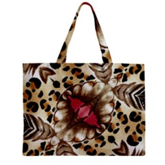Animal Tissue And Flowers Zipper Mini Tote Bag by Amaryn4rt