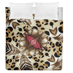 Animal Tissue And Flowers Duvet Cover Double Side (queen Size) by Amaryn4rt