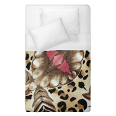 Animal Tissue And Flowers Duvet Cover (single Size) by Amaryn4rt