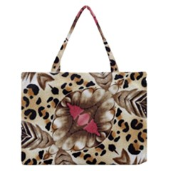 Animal Tissue And Flowers Medium Zipper Tote Bag by Amaryn4rt