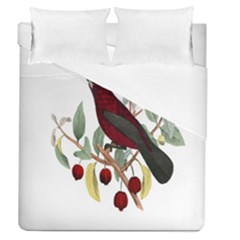 Bird On Branch Illustration Duvet Cover (queen Size) by Amaryn4rt