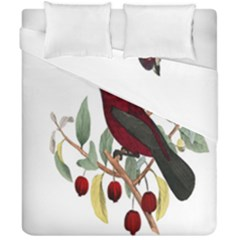Bird On Branch Illustration Duvet Cover Double Side (california King Size) by Amaryn4rt