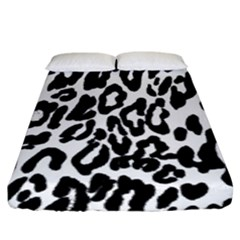 Black And White Leopard Skin Fitted Sheet (king Size) by Amaryn4rt