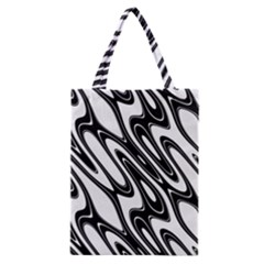 Black And White Wave Abstract Classic Tote Bag by Amaryn4rt