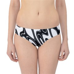 Black And White Wave Abstract Hipster Bikini Bottoms