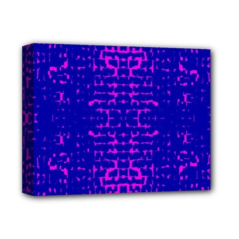 Blue And Pink Pixel Pattern Deluxe Canvas 14  X 11  by Amaryn4rt