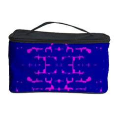 Blue And Pink Pixel Pattern Cosmetic Storage Case by Amaryn4rt