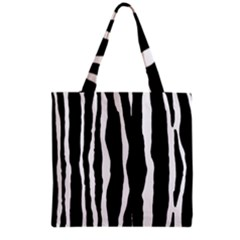 Zebra Background Pattern Grocery Tote Bag