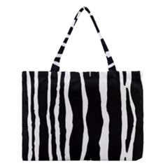 Zebra Background Pattern Medium Tote Bag by Amaryn4rt