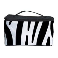Seamless Zebra A Completely Zebra Skin Background Pattern Cosmetic Storage Case by Amaryn4rt