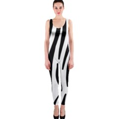 Seamless Zebra A Completely Zebra Skin Background Pattern Onepiece Catsuit by Amaryn4rt