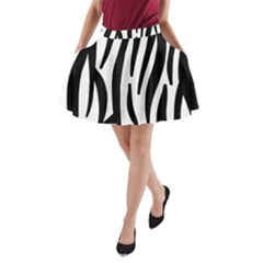 Seamless Zebra A Completely Zebra Skin Background Pattern A Line Pocket Skirt by Amaryn4rt