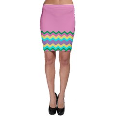 Easter Chevron Pattern Stripes Bodycon Skirt