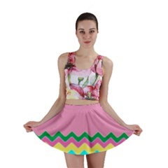 Easter Chevron Pattern Stripes Mini Skirt by Amaryn4rt