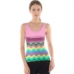 Easter Chevron Pattern Stripes Tank Top by Amaryn4rt