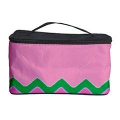 Easter Chevron Pattern Stripes Cosmetic Storage Case