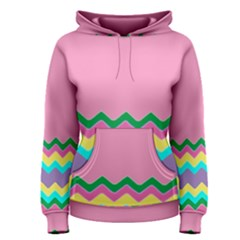 Easter Chevron Pattern Stripes Women s Pullover Hoodie