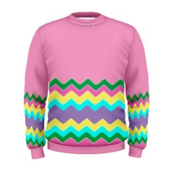 Easter Chevron Pattern Stripes Men s Sweatshirt
