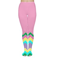 Easter Chevron Pattern Stripes Women s Tights by Amaryn4rt