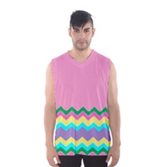 Easter Chevron Pattern Stripes Men s Basketball Tank Top