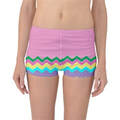 Easter Chevron Pattern Stripes Boyleg Bikini Bottoms