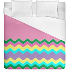 Easter Chevron Pattern Stripes Duvet Cover (King Size)
