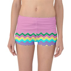 Easter Chevron Pattern Stripes Reversible Bikini Bottoms by Amaryn4rt