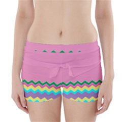 Easter Chevron Pattern Stripes Boyleg Bikini Wrap Bottoms