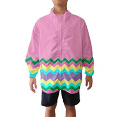 Easter Chevron Pattern Stripes Wind Breaker (Kids)