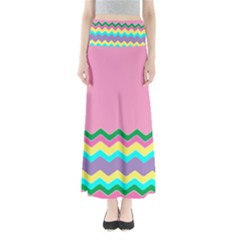 Easter Chevron Pattern Stripes Maxi Skirts