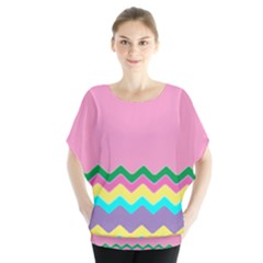 Easter Chevron Pattern Stripes Blouse by Amaryn4rt