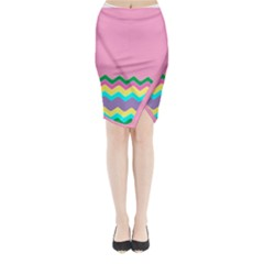 Easter Chevron Pattern Stripes Midi Wrap Pencil Skirt