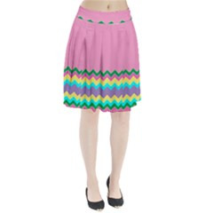 Easter Chevron Pattern Stripes Pleated Skirt