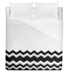 Chevrons Black Pattern Background Duvet Cover (queen Size) by Amaryn4rt
