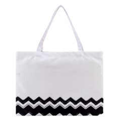 Chevrons Black Pattern Background Medium Tote Bag by Amaryn4rt