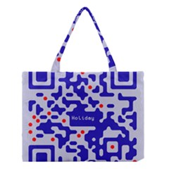Digital Computer Graphic Qr Code Is Encrypted With The Inscription Medium Tote Bag by Amaryn4rt